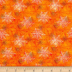 Boooo Ville Webbing Orange Fabric