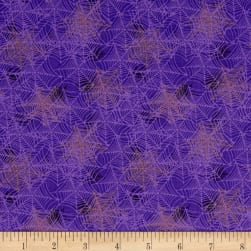 Boooo Ville Webbing Purple Fabric