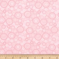 Sunday Ride Beaded Circles Light Pink Fabric