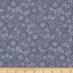 Sunday Ride Beaded Circles Dark Grey Fabric