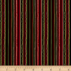Golden Holiday Metallic Festive Stripe Multi