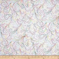 Mexicali Fresh Beaded Paisley White/Bright Fabric