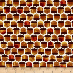 Leaf Into Autumn Acorn Geo Cream Fabric