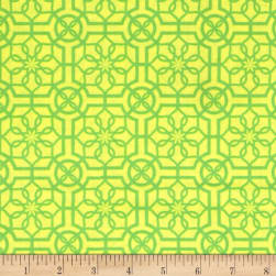 Bahama Breeze Trendy Trellis Yellow/Green Fabric