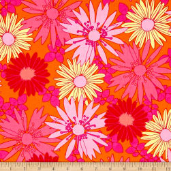 Bahama Breeze Sunshine Daisy Orange Crush Fabric