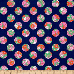 Bahama Breeze Ditzy Dot Navy Fabric