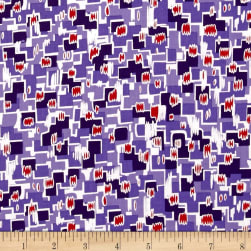 Revved Up Retro Psychedelic Relic Purple