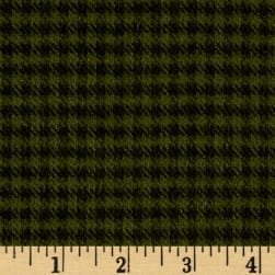 Primo Flannel Christmas Checks Hunter Fabric