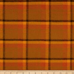 Primo Flannel Harvest Large Plaid Orange Fabric