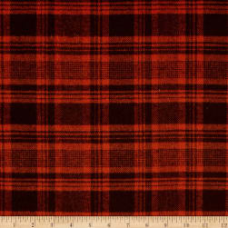 Primo Flannel Harvest Plaid Orange Fabric