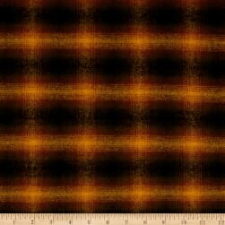 Primo Flannel Harvest Plaid Brown Fabric