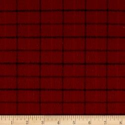 Primo Flannel Harvest Window Pane Plaid Brown Fabric