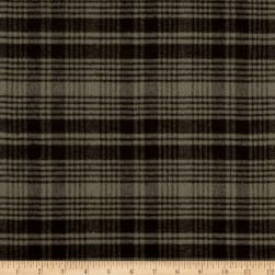 Primo Flannel Smoky Plaid Grey Fabric