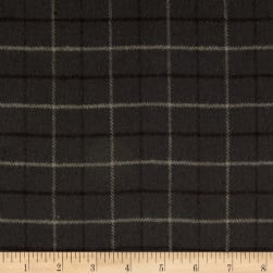 Primo Flannel Smoky Window Pane Plaid Grey