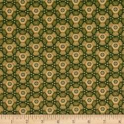Old Sturbridge Village Honeycomb Green Fabric