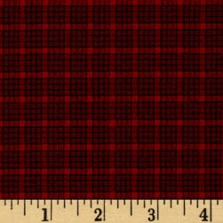 Old Sturbridge Small Plaid Red Fabric