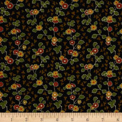 Cozies Flannel Harvest Flower Brown Fabric