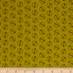 Cozies Flannel Harvest Geo Green Fabric