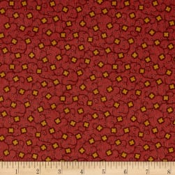 Cozies Flannel Harvest Flower Rust Fabric