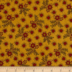 Cozies Flannel Harvest Flower Buttercup Fabric