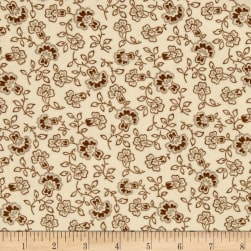 Cozies Flannel Harvest Large Flower Light Cream Fabric