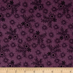 Cozies Flannel Harvest Flower Purple Fabric