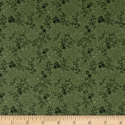 Cozies Flannel Twigs Green Fabric
