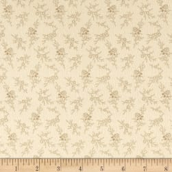 Cozies Flannel Floral Tan Fabric