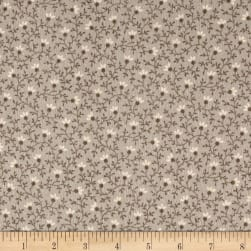 Cozies Flannel Flower Vine Grey Fabric