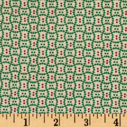 Cozies Flannel Christmas Check Green Fabric