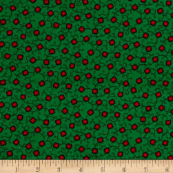 Cozies Flannel Christmas Flower Green