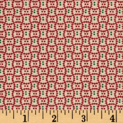 Cozies Flannel Christmas Check Red Fabric