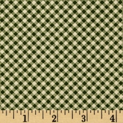 Wrapped In Joy Plaid Green Fabric