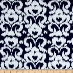 Riley Blake Ikat Jersey Knit Navy Fabric