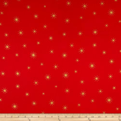 Shining Star Glitter Gold/Red Fabric