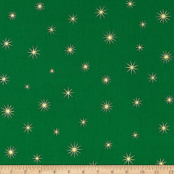 Shining Star Glitter Gold/Green Fabric