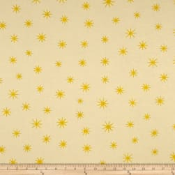 Shining Star Glitter Soft Yellow Fabric