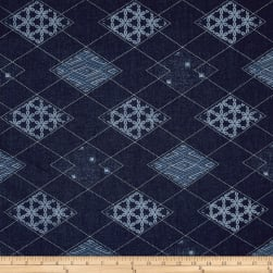 Art Gallery Denim Print Diamond Arcuate