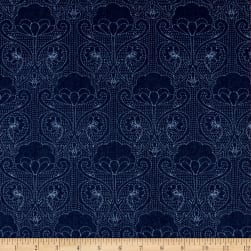 Art Gallery Denim Print Stitched-Ochi Fabric