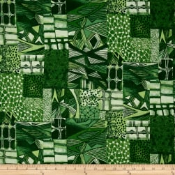 Jakarta Abstract Green Fabric