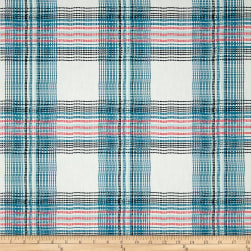 Art Gallery Dare Wafting Plaid Traced Fabric