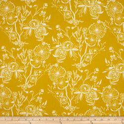 Art Gallery Millie Fleur Line Drawings Yellowed Fabric