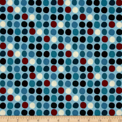 Thanks for the Flowers Dots Light Blue Fabric