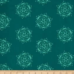 Art Gallery Lavish Bejeweled Seal Teal Fabric