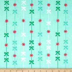 Michael Miller Holiday Party Peppermint Stripe Mint Fabric