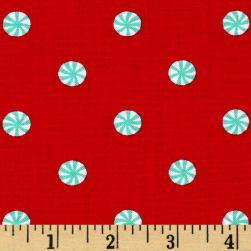 Michael Miller Holliday Party Mini Mint Red