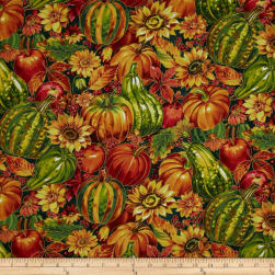 Golden Harvest Metallic Pumpkins Grounds Multi