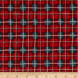 Fall Retreat Plaid Red Fabric