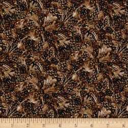 Into The Woods Tonal Pine Cones Brown Fabric