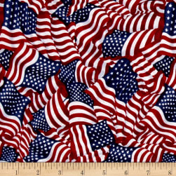 American Pride Wavy Flag Bright Fabric